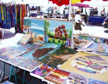Haitian art at the Marigot markets